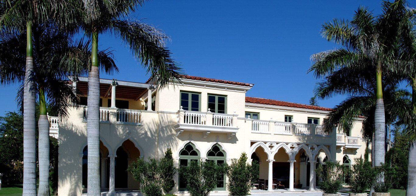 Award winning architectural cast stone and GFRC home in Florida