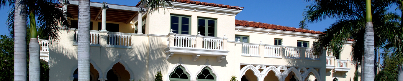 Typical cast stone elements used in South Florida