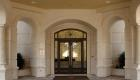 modern entryway classic look with stone casing and veneer